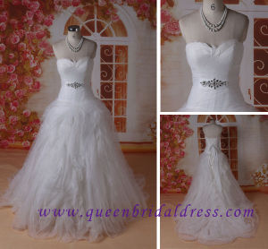 Gorgeous Feather Sweetheart Neckline Wedding Dress, , Aline Wedding Dress with Ruffled
