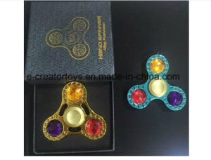 New Alloy Fidget Spinner with Gem for 2 Color in Best Funny Toys /Gift 2017 pictures & photos