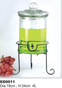 Glass Beverage Jar Dispenser Especial for Juice