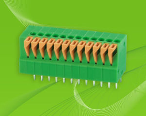 PCB Screwless Terminal Block with Dual Row Pin Header pictures & photos