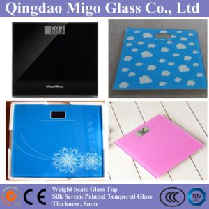 8mm Silk Screen Printed Tempered Glass Used as Weight Scale Top Glass pictures & photos