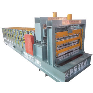 Lowest Price Three Layer Glazed Roofing Tile Roll Forming Machine