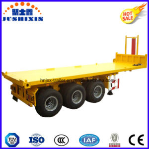 20feet 3axle Flatbed Tipper Semi Trailer pictures & photos