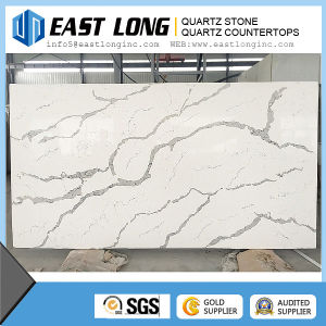 Hot Sale Marble Veins Artificial Calacatta Quartz Stone / Engineered Quartz Stone pictures & photos