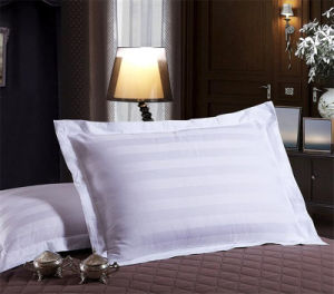 Low Price Disposable Pillow 3cm Stripe Polyester Fabric Cover Pillow pictures & photos