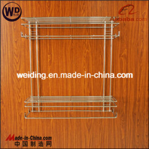 Wire Style Two Layers Base Side Mount Pullout Basket Wt-B01 pictures & photos