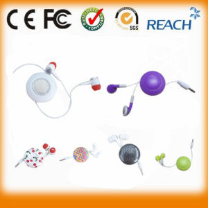 3.5 Mm Retractable Earphone in-Ear Earpods for Samsung iPod iPhone pictures & photos