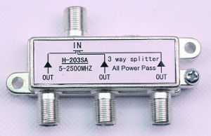3way 5-2500MHz Smatv Splitter (SHJ-H203SA) pictures & photos