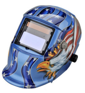 Blue Color Auto-Darken Welding Helmet with Eagle pictures & photos
