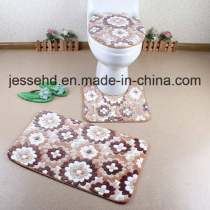 Anti-Slip Soft Coral Fleece 3PCS Bathroom Mat Set pictures & photos