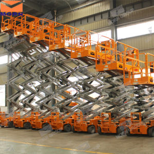 14m Outdoor Manlift Scissor Lift for Rental pictures & photos