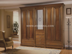 Solid Wood Wardrobe with ISO and E1 Standard