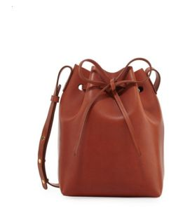 Vegetable-Tanned PU Leather Mini Bucket Bag Women Shoulder Bag pictures & photos