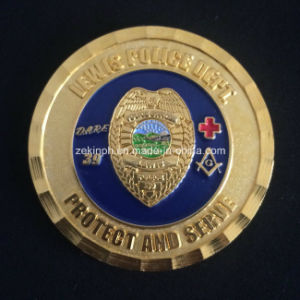 Exclusive High Quality Brass Challenge Coins with Diamond Edge for Police Collection pictures & photos