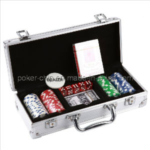 100PCS Poker Chip Set in Square Corner Real Aluminum Case (SY-S76) pictures & photos