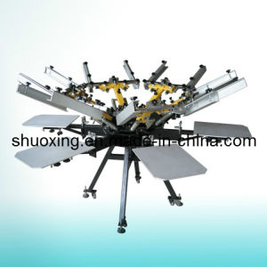 Manual Carousel Textile Screen Printing Machine pictures & photos