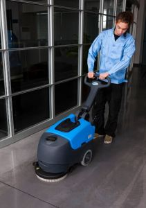 Commercial Automatic Compact Foldable Walk-Behind Cleaning Machine Scrubber Dryer with Cable pictures & photos