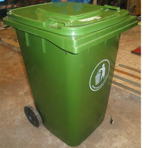 Plastic Dustbin with Two Pulley Bottom Dw-240L pictures & photos