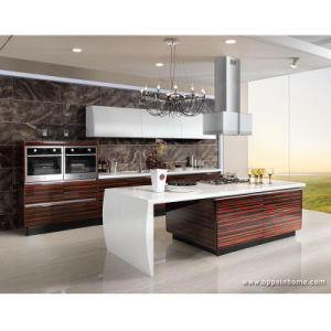 Kitchen Cabinet 2013 Modern Wood Veneer Lacquer Kitchen Cabinet