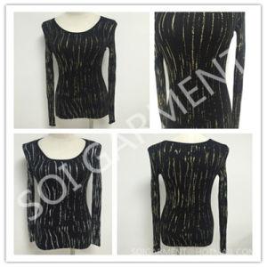 New Gold Print Design Knitted Sweater for Women (SOITSW-31)