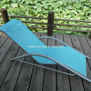 Outdoor Model Wicker Garden Textilene Lounger pictures & photos
