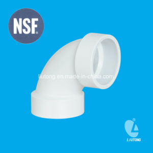 Plastic Fittings PVC 90 Deg Elbow ASTM D2665 for Dwv Water with NSF Certifictae pictures & photos