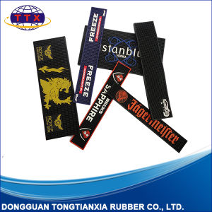 Customized Embossing Logo Soft Flexible PVC Bar Mat pictures & photos