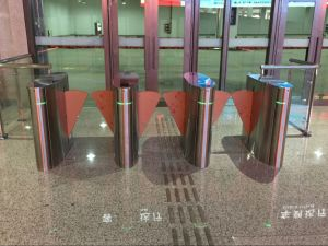 Swiping Card Stadium Anti-Pinch Function Outdoor Flap Barrier Gate pictures & photos
