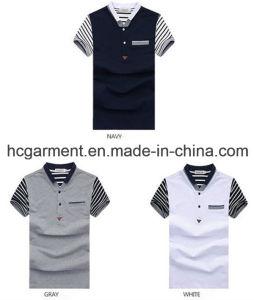 Men′s Polo Shirt, Cotton Short Sleeve Printed T-Shirt pictures & photos