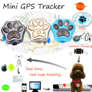 IP66 Waterproof Pets GPS Tracker with Wireless Charging (V32) pictures & photos