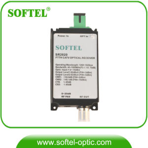 45~860MHz & 950~2600MHz Satellite TV & Analog TV Pin Optical Receiver pictures & photos