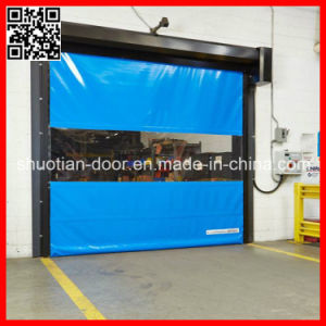PVC Motorized High Performance Rolling Door (st-001) pictures & photos