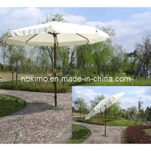 Dia. 300cm Wooden Market Umbrella with Metal Tilt / Outdoor Furniture Beach Umbrella (22316)