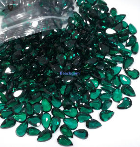 Lab Created Emerald Pear 5X7mm pictures & photos