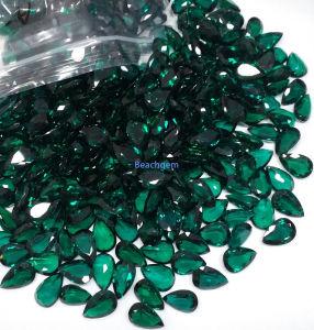 Lab Created Emerald Pear 5X7mm