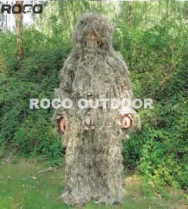 Dry Grass Tactical Military Sniper Ghillie Suit