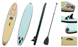 11′ Wood Grain Popular Pattern Sup Board, Inflatable Stand up Paddle Board, Surf Board pictures & photos