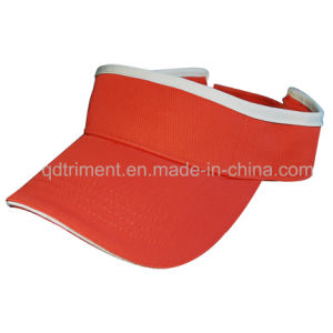 Contrast Binding Sandwich Cotton Twill Sport Racing Visor (TRV021) pictures & photos