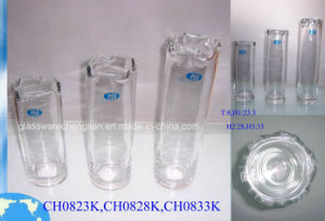 Machine Made Clear Glass Vase (CH0823K) pictures & photos
