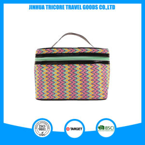 Full Attraction and Popular Stripe PU Cosmetic or Tote Bags pictures & photos