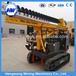 Solar Power Photovoltaic Crawler Ground Drilling Pile Driver pictures & photos