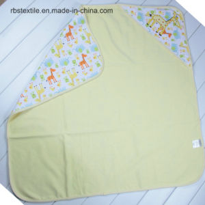 100% Knitted Cotton Baby Swaddle Blanket Hooded Towel pictures & photos