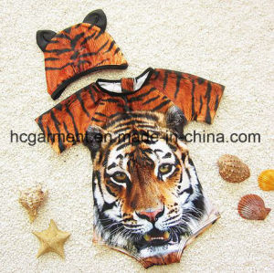 Cartoon Clothing Modelling Swimming Suit, 3 D Printed Swimming Wear pictures & photos