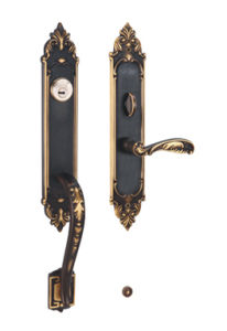 Classic Style Solid Brass Entrance Door Handle Lock pictures & photos