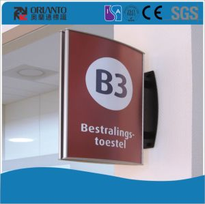 Aluminium Curved Plastic End Cap Sign pictures & photos