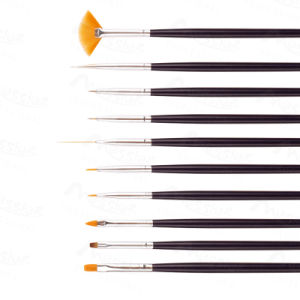 PRO Nail Art 10 Pieces Nail Art Design DIY Acrylic Drawing Painting Striping UV Gel Pen Brush Set pictures & photos