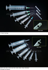 3-Parts Disposable Syringe with Needle pictures & photos
