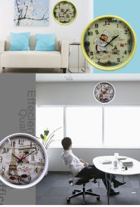 12 Inch Home Decoration Plastic Home Goods Wall Clock, Round Plastic Wall Clock (LZ006) pictures & photos