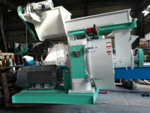 Roller Moving Biomass Wood Pellet Mill Machine with Ce pictures & photos
