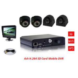 64G/128g SD Mobile DVR 4 Channels for Vehicle and Remote Area Surveillance pictures & photos